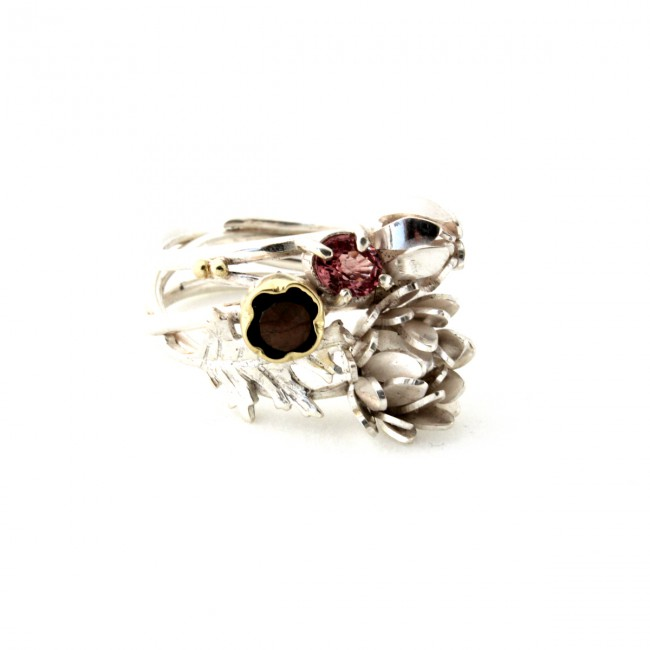 chrysantum ring silver flirt jewels