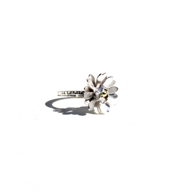 daisy ring silver and gold